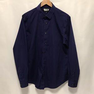 Express Modern Fit Large Violet Shirt 16-16.5